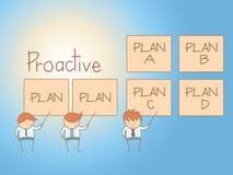 Plan proactif de solution d'homme d'affaires Photo libre de droits