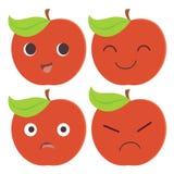 Personnage de dessin animé rouge de pomme illustration stock