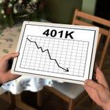 Personnage de dessin animé tenant une tablette Photographie stock libre de droits