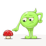 Personnage de dessin animé avec le vecteur de champignon Photo stock
