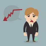 Personnage de dessin animé d'échouer d'homme d'affaires Photographie stock libre de droits