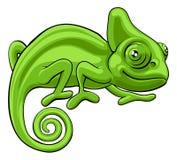 Personnage de dessin animé de caméléon Photos stock