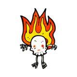 personnage de dessin animé de crâne Photos stock