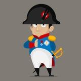 Personnage de dessin animé de Napoleon Bonaparte Photographie stock libre de droits