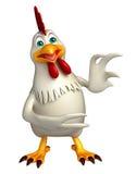 personnage de dessin animé drôle de poule Images stock