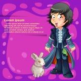 Personnage de dessin anim? de magicien illustration stock