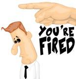 Personnage de dessin animé mis le feu Photo libre de droits