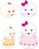 personnages de dessin animé Photo stock