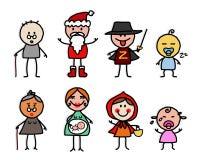 Personnages de dessin animé 3 Photos stock