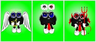 Personnages de dessin animé 3 Photographie stock