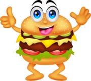 Personnages de dessin animé d'hamburger Images libres de droits