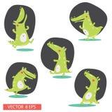 Personnages de dessin animé de crocodile Photographie stock