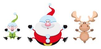Personnages de dessin animé de Noël Photos stock
