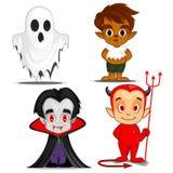 Personnages de dessin animé fantasmagoriques de Halloween illustration stock