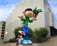 Personnages de dessin animé géants à Bruxelles, Belgique Photos libres de droits