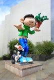 Personnages de dessin animé géants à Bruxelles, Belgique Image stock