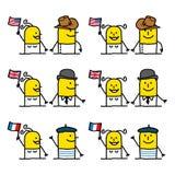 Personnages de dessin animé - gens du monde Image libre de droits