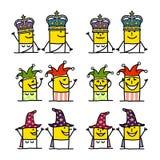 Personnages de dessin animé - imagination illustration de vecteur