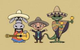 Personnages de dessin animé mexicains Image libre de droits