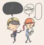 Personnages de dessin animé mignons de Ngineer Image stock