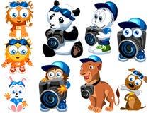 Personnages de dessin animé Images libres de droits