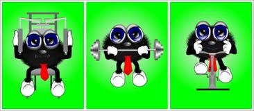 4 personnages de dessin animé Photographie stock
