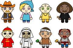 Personnages de dessin animé internationaux Photographie stock libre de droits