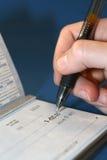 Personnalisation de chèques Photos libres de droits