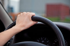 Personne conduisant le véhicule Photos libres de droits