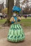 Personne déguisée - carnaval vénitien 2014 d'Annecy photo libre de droits