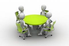 personne 3d à une table de conférence Images stock