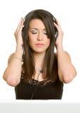 Personne d'écouteurs Image stock