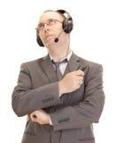 Personne d'affaires avec le positionnement de tête Image libre de droits