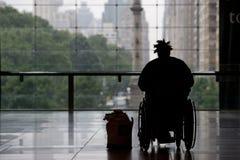 Personne dans le fauteuil roulant Photographie stock