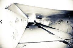 Personne dans le tunnel Image stock