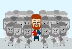 Personne de foule de Stand Out From du Chef d'homme d'affaires Image stock