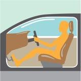 Personne de vue de côté de voiture aucun airbag Photos libres de droits