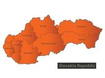 Personne distincte d'orange de carte de République de la Slovaquie Images libres de droits