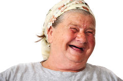 Personne féminine âgée âgée Photographie stock