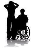 Personne handicapée sur une promenade Photos libres de droits