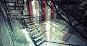 personne Intérieur industriel moderne, escaliers, l'espace propre dans indus Photographie stock libre de droits