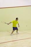Personne jouant au squash Images stock