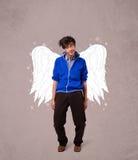 Personne mignonne avec les ailes illustrées par ange Images stock