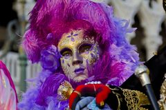 Masque vénitien de carnaval Photo libre de droits