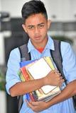 Personne philippine jeune malheureuse avec des carnets photo libre de droits