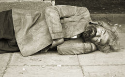 Personne sans foyer Photo libre de droits
