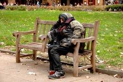 Personne sans foyer Photographie stock libre de droits