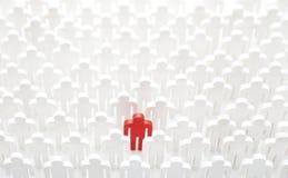 Personne unique dans la foule Image stock