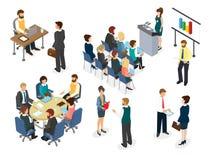 Personnel administratif à la table ronde en cours de discussion illustration stock