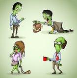 Ensemble de zombi de quatre bureaux illustration stock